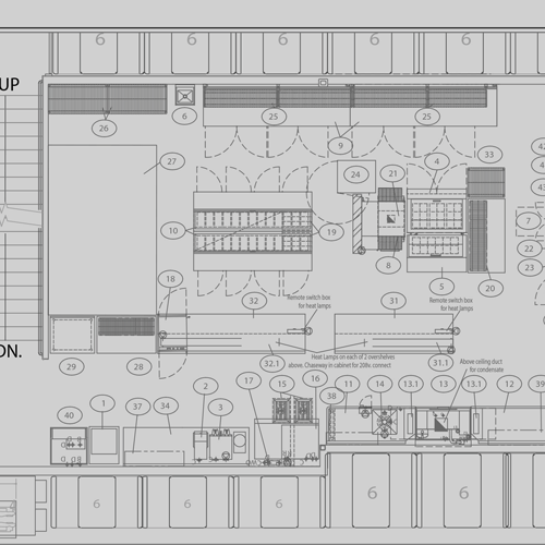 Industrial Kitchen Layout Plan: Pizza Pool Hall #2